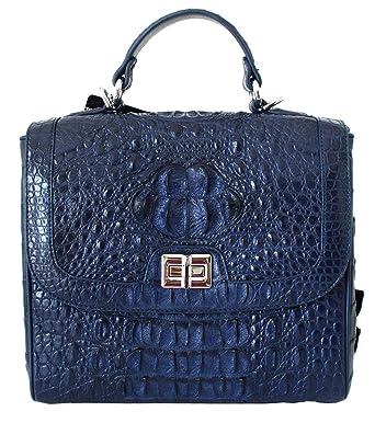 e48f20b0c74b0 Image Unavailable. Image not available for. Color  Authentic M Crocodile  Skin Womens Hornback W Strap Clutch Shoulder Bag ...