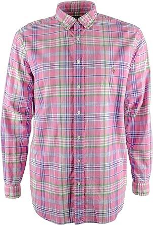 Polo Ralph Lauren - Camisa de cuadros grandes y altos para hombre - Multicolor - XX: Amazon.es: Ropa y accesorios