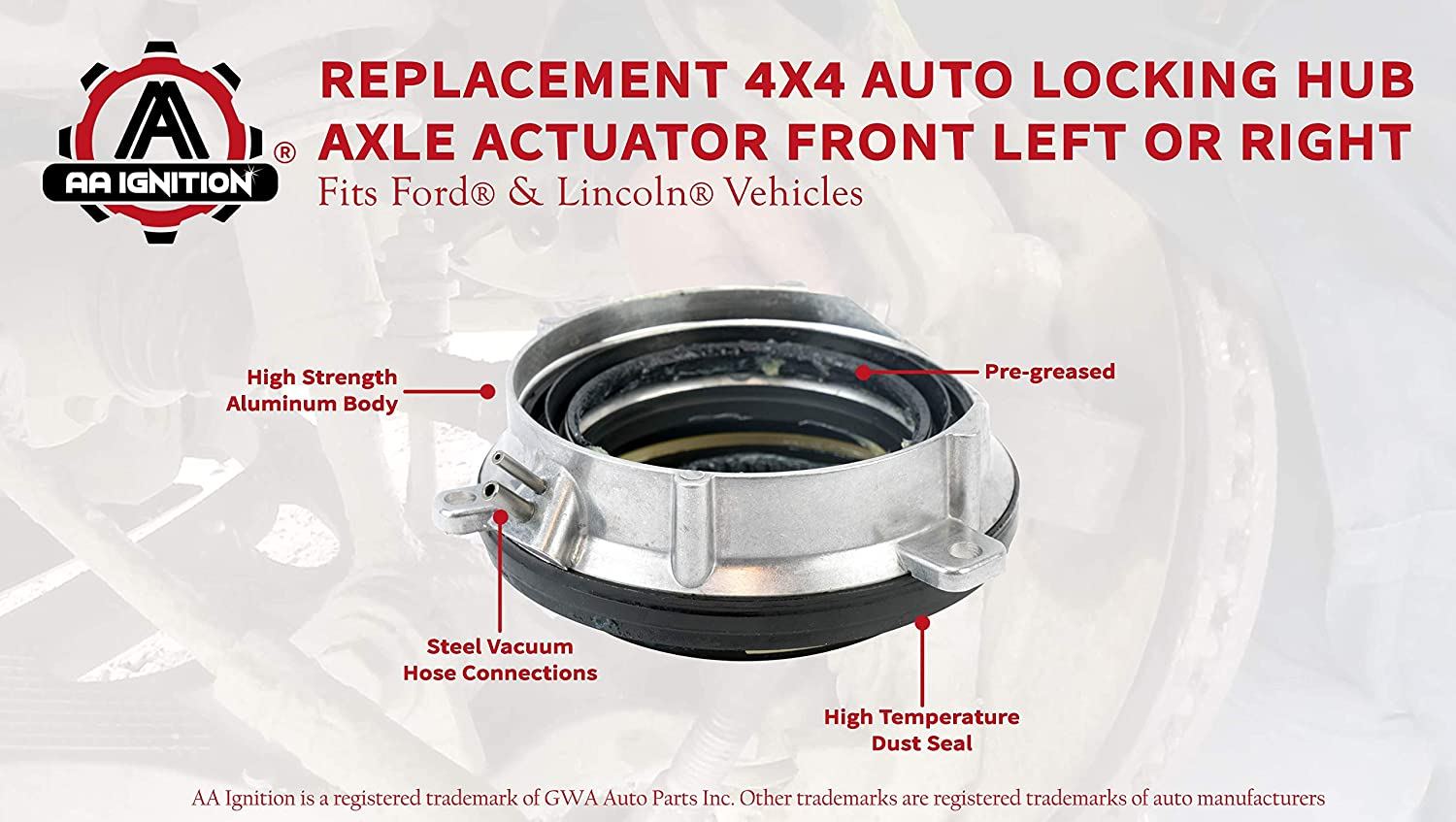 7L1Z-3C247-A 2003-2012 Ford Expedition 2003-2012 Lincoln Navigator Replaces Part# 4-Wheel Drive 4x4 4WD Auto Locking Hub Axle Actuator Front Left or Right Fits 2004-2012 Ford F150 7L1Z3C247A