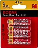 Kodak Super Heavy Duty AA 4 Pack Zinc Batteries (30452862)
