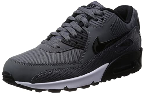 4860568393d0 Nike Women s Air Max 90 Pure Platinum Black dark Grey 325213-035 ...
