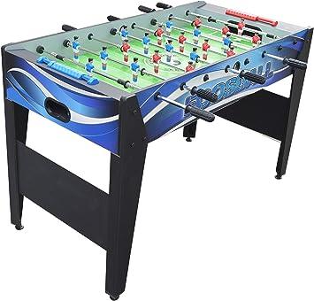 Hathaway Allure mesa de futbolín de 48 pulgadas, azul, 48.5 pulgadas de largo x 24 pulgadas de ancho x 31 pulgadas de alto, color negro: Amazon.es: Deportes y aire libre