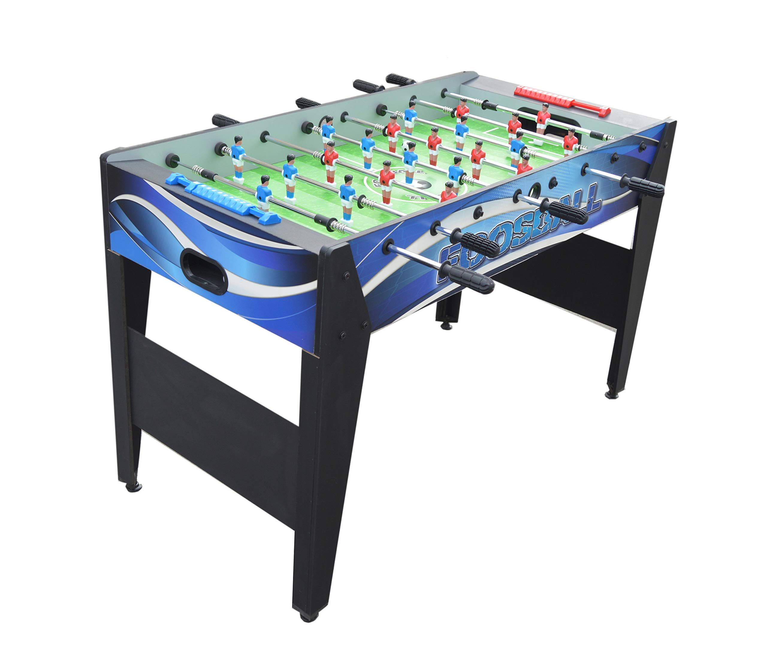 Hathaway Allure 48-in Foosball Table, Blue, 48.5'' L x 24'' W x 31'' H, Black by Hathaway