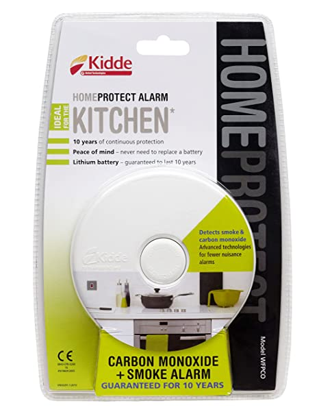 Beau Kiddie Home Protect WFPCO Combination Smoke And Carbon Monoxide Alarm For  The Kitchen, White