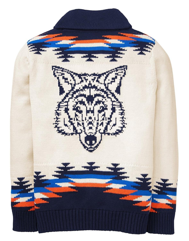 Gymboree Boys Little Long Sleeve Cardigan Aztec Wolf