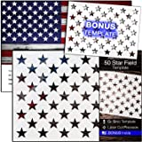 """American Flag 50 STAR STENCIL for Painting on Wood, Fabric, Walls, Airbrush + More 