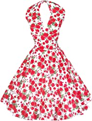 46dd032b04dfe7 Maggie Tang Women s 1950s Vintage Rockabilly Dress