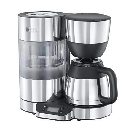 Russell Hobbs Cafetera de Goteo Thermal Clarity 20771-56, 1.25 litros, Negro, Acero inoxidable