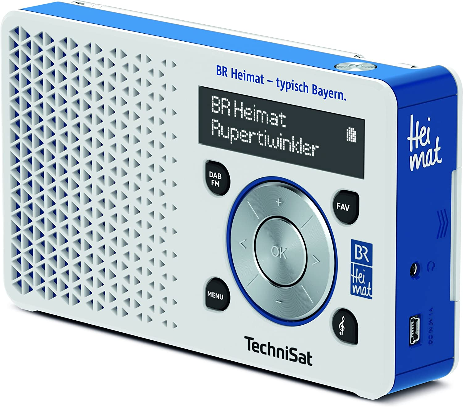 Technisat Digitradio 1 Br Heimat Edition Portables Dab Radio Klein Tragbar Mit Lautsprecher Dab Ukw Favoritenspeicher Direktwahltaste Zu Br Heimat Weiss Blau Amazon De Heimkino Tv Video