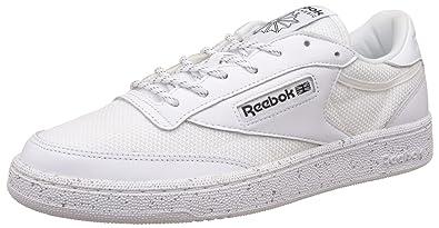 fdb87c8e Reebok Classics Men's Club C 85 St White Leather Tennis Shoes - 6 UK/India