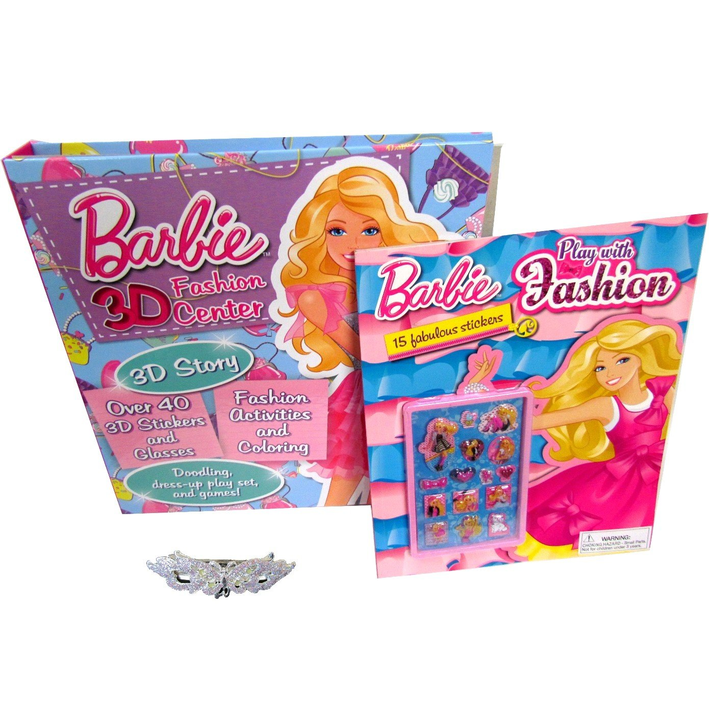 Amazon 2 Barbie Books For Kids Coloring Book And Activity Girls A 3 Barrette Stocking Stuffers Christmas Gifts