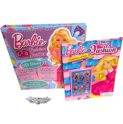 2 Barbie Books For Kids Coloring Book And Activity Girls