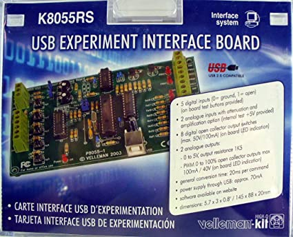 VELLEMAN K8055RS USB EXPERIMENT INTERFACE BOARD KIT by Velleman
