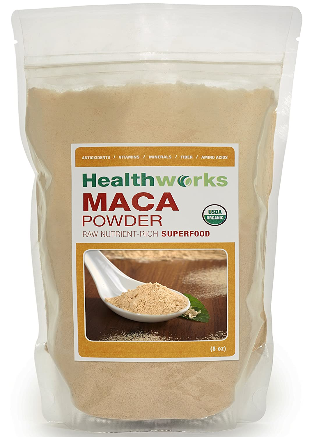 Healthworks Maca Powder Raw Organic, 4lb (2 2lb Packs)