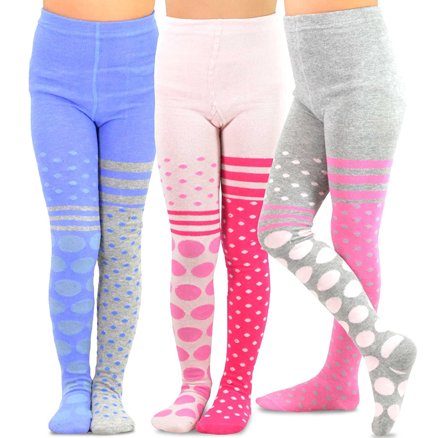 TeeHee Naartjie Kids Girls Fashion Cotton Tights 3 Pair Pack Soxnet Inc