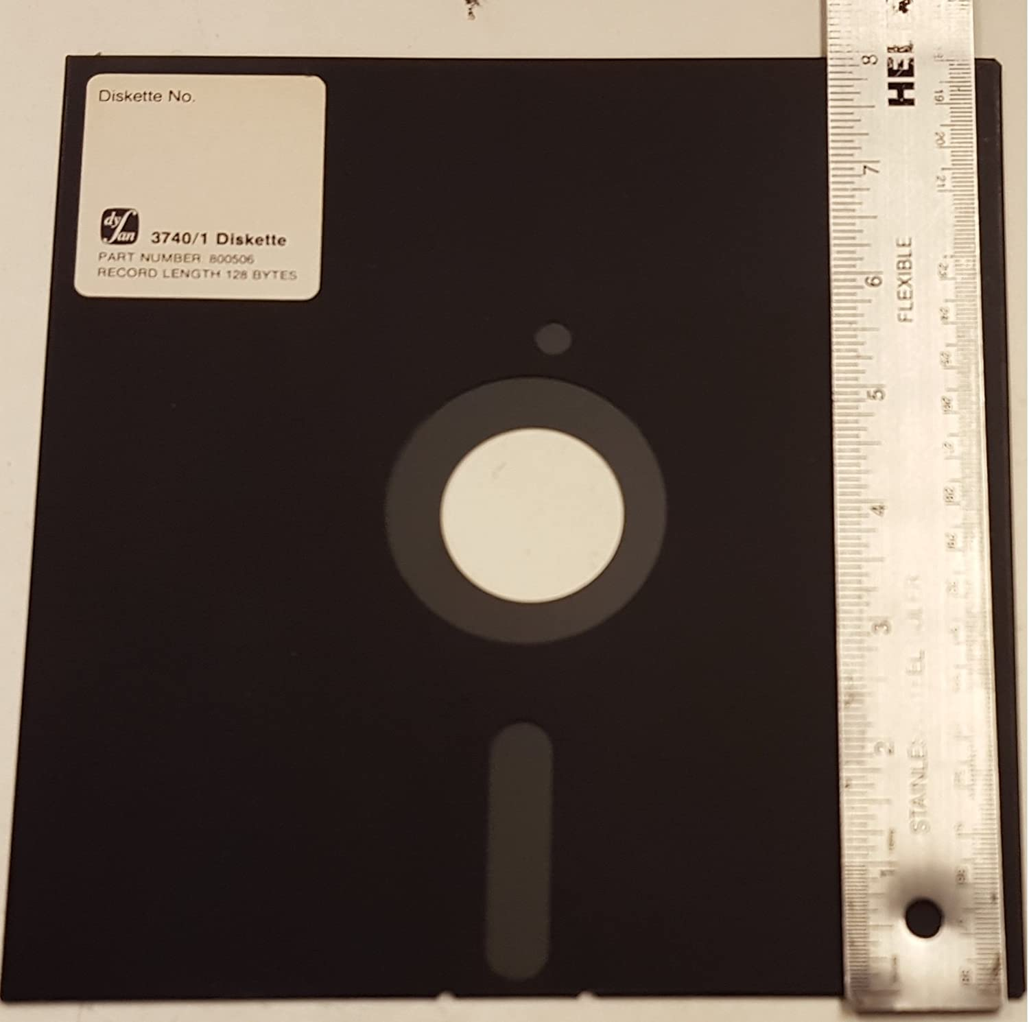 8 INCH FLOPPY DISKS! 5 Pack PROMOTIONAL//NON-WORKING FLOPPY DISKETTES.