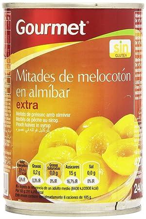 Gourmet Mitades de Melocotón en Almíbar Extra - 420 g: Amazon.es: Amazon Pantry
