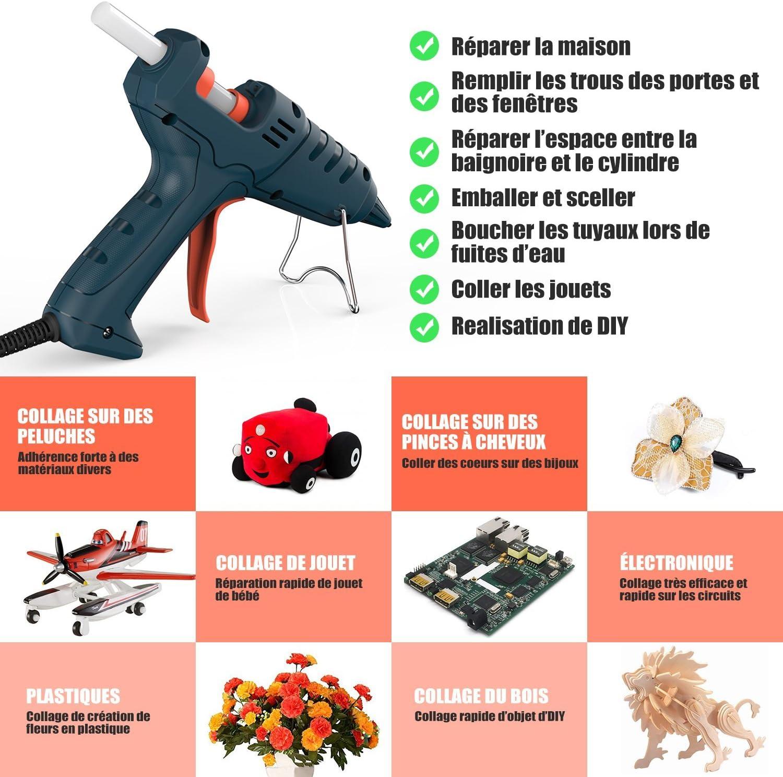 Pistolet à colle chaude Ragnaros 60 W Thermostat Chaud fond pistolet colle rapide préchauffage avec