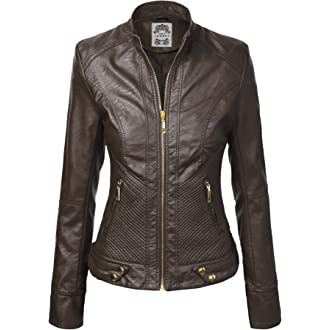 #3 Lock and Love LL Womens Quilted Biker Jacket