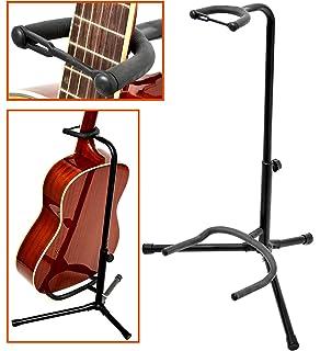 Stativ Metall schwarz gelb Stabiler Gitarren Ständer