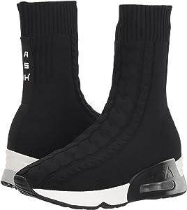 ASH Women's LIV Sneaker, Knit Black