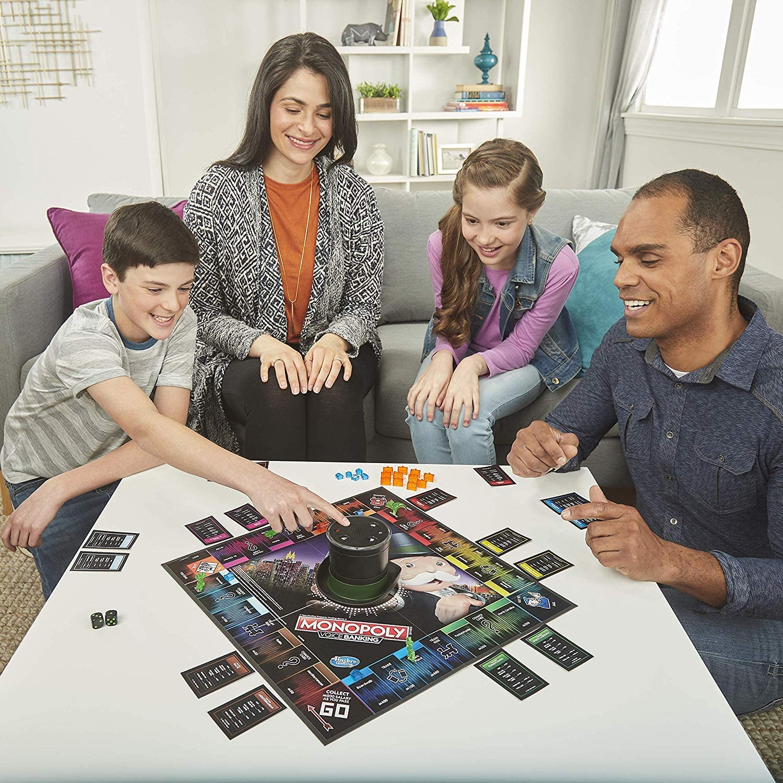 Hasbro Gaming- Monopoly Voice Banking Electrónico Juego de mesa familiar para edades de 8 y más, Idioma Inglés, Multicolor (E4816) , color/modelo surtido: Amazon.es: Juguetes y juegos
