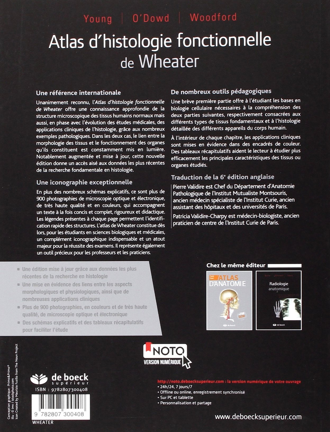 atlas dhistologie fonctionnelle de wheater