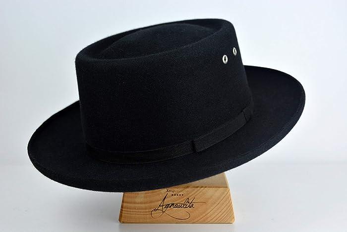 829032589e339 Amazon.com  The Founder - Rabbit Fur Felt Fedora Hat - Medium Brim - Men  Women  Handmade
