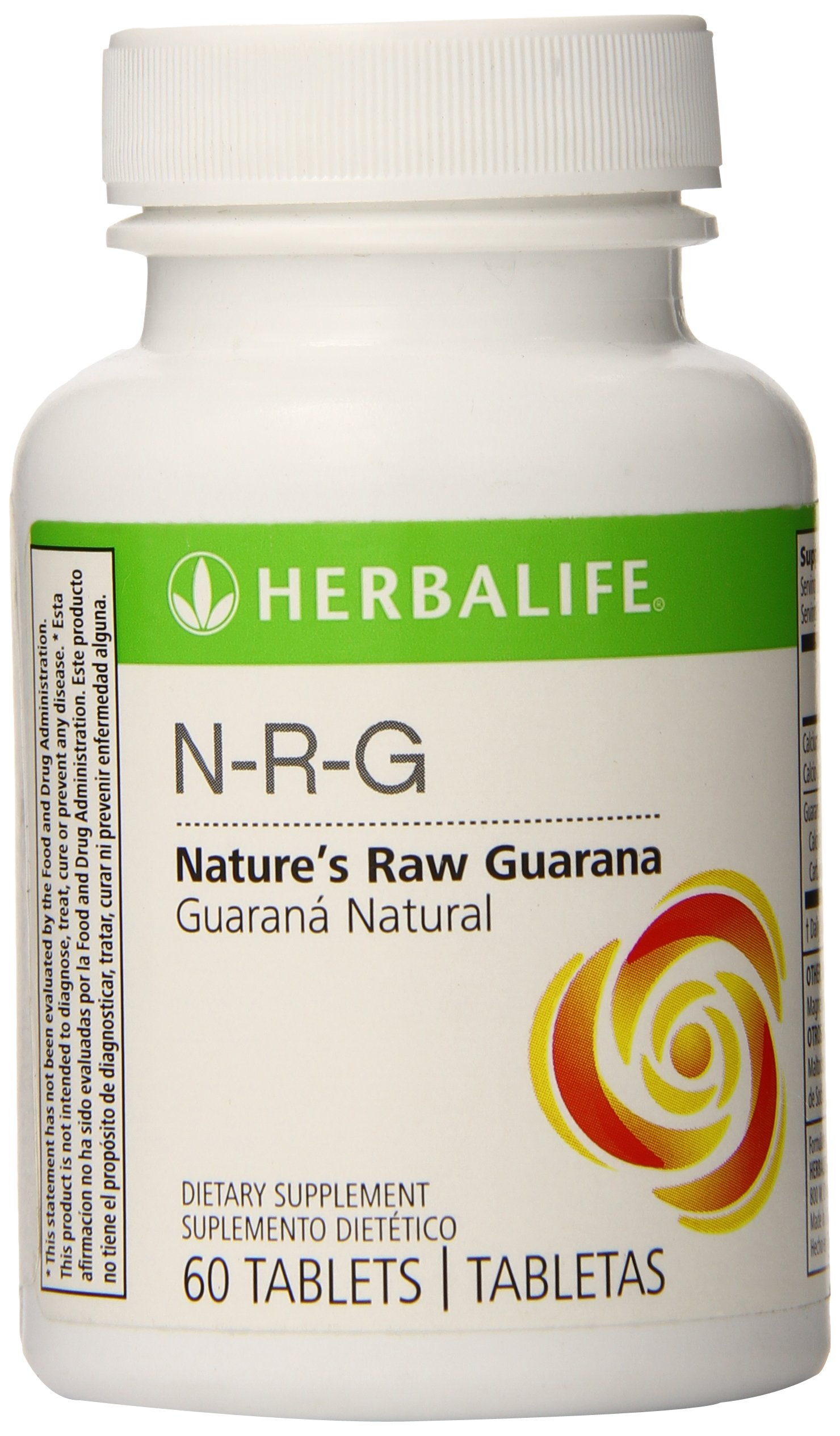 Herbalife N-R-G Nature's Raw Guarana Tablets, 60 Tablets