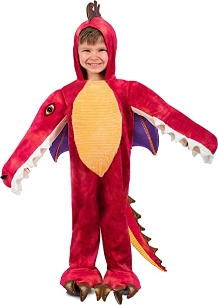 18 Months 2T Princess Paradise Childs Chomping Red Dragon Costume