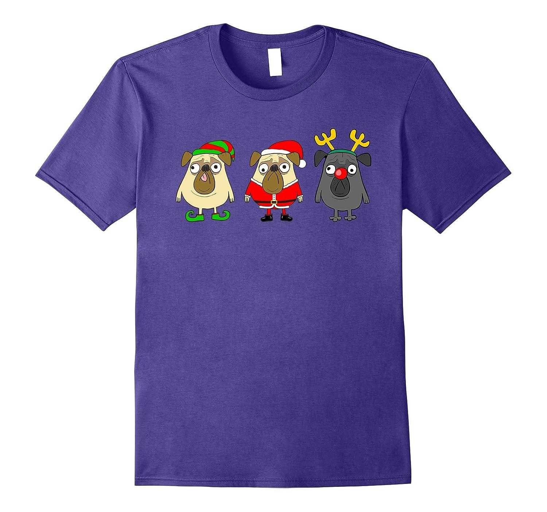 Pugs dog Christmas Gift t-shirt
