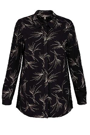 90235f4e73b Ulla Popken Women s Plus Size Graphic Print Blouse Black Multi 12 14 719320  10