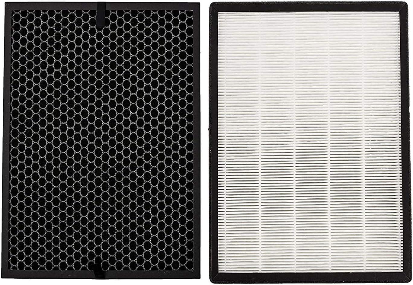 Zealing Juego de filtros de repuesto compatibles con el purificador de aire Levoit LV-PUR131 y LV-PUR131S, True HEPA y filtros de carbón activado, filtro de 3 etapas, LV-PUR131-RF