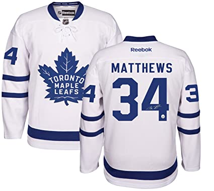 innovative design 8b9b4 a3cd5 Auston Matthews - Signed Leafs White 2016-2017 Replica ...