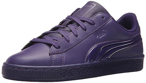 032e68dba2a6a PUMA Unisex-Kids Basket Classic 3D FS Sneaker, Violet Indigo-Violet Indigo,
