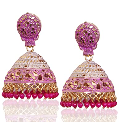 e6f2f70d581 Buy Jhumkas for women Big Jhumkis Stylish Fancy Party Wear Jhumka Earrings  for Girls and Women By Shop max Online at Low Prices in India