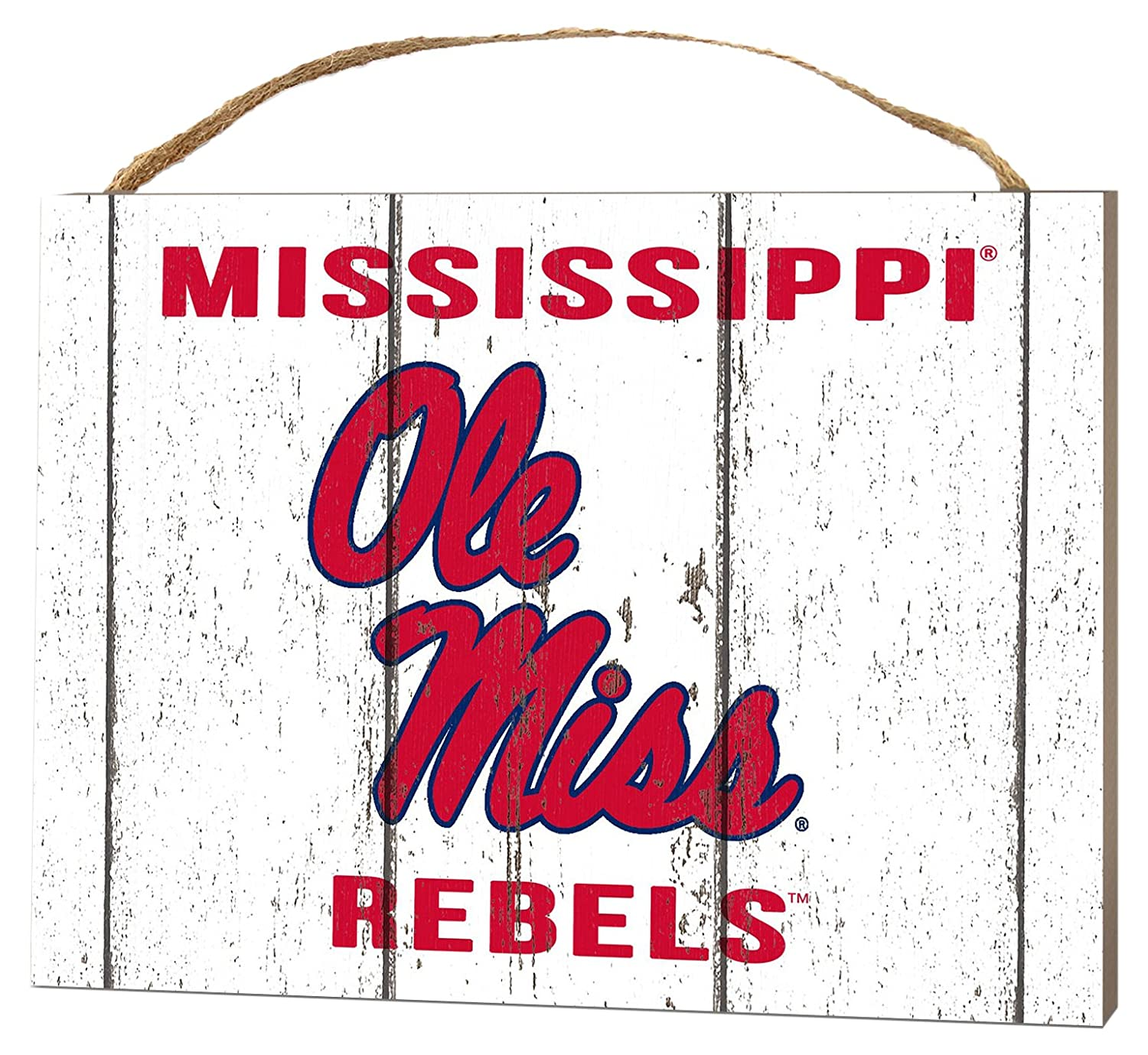 KH Sports Fan 4X5.5 Mississippi Rebels Weathered Logo Small College Plaque