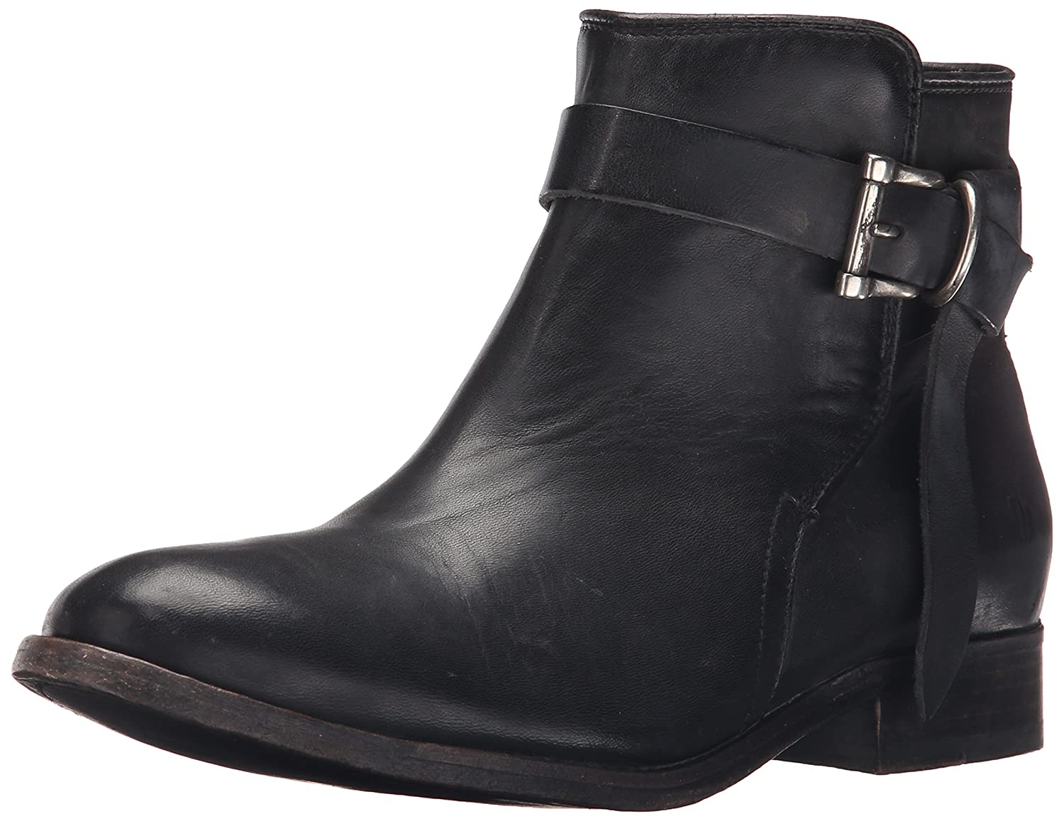 FRYE Women's Melissa Knotted Short Boot B01015SLU4 7 B(M) US|Black Polished Stonewash Leather-76793