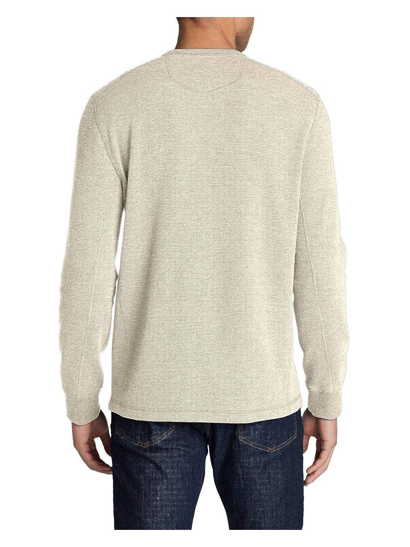 2db20bc5 Eddie Bauer Men's Eddie's Favorite Thermal Henley Shirt at Amazon Men's  Clothing store: