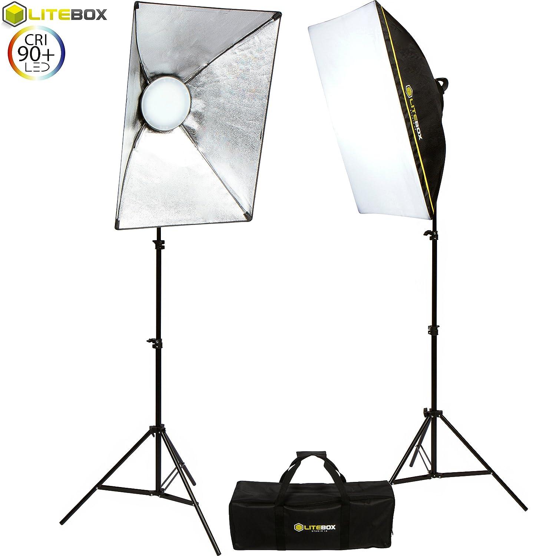 lighting set. Amazon.com: LITEBOX LED Photography Softbox Light Lighting Kit - Pair With Integrated Multi-Level Dimmer (New Rotatable Design) Plus 2 Stands, Set