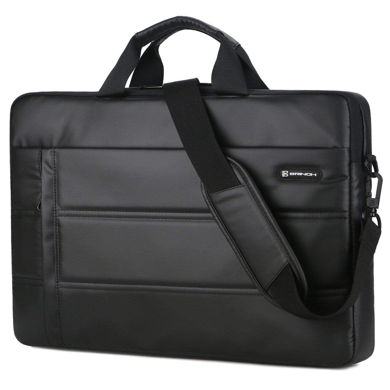 Laptop Messenger Bag 13.3 inch,BRINCH Waterproof Easy Clean Durable Business Laptop Bag Shoulder Bag Work Briefcase Sleeve Case Handbag for Men/Women,Fits 13-13.3'' Laptop/Notebook Computer,Black