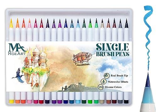 65 opinioni per Set penne con punta a pennello – 20 colori