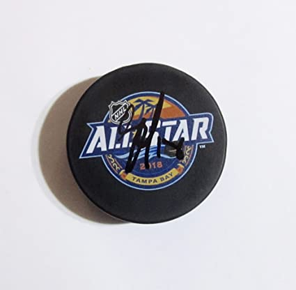 Image Unavailable. Image not available for. Color  JAMES NEAL Hand SIGNED  AUTOGRAPHED 2018 ALL-STAR Puck Las Vegas GOLDEN KNIGHTS ... f77fccc7b