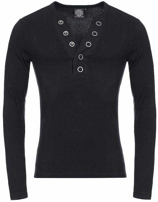 CRSM by Carisma Herren Longsleeve 3013 Designer Langarmshirt 2in1 Look  Streetwear Alltagsmode,Black,XL: Amazon.de: Bekleidung