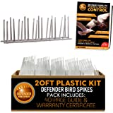 Defender Bird Spikes | Plastic | Install Guide | 20 Feet | Various Size Kits…