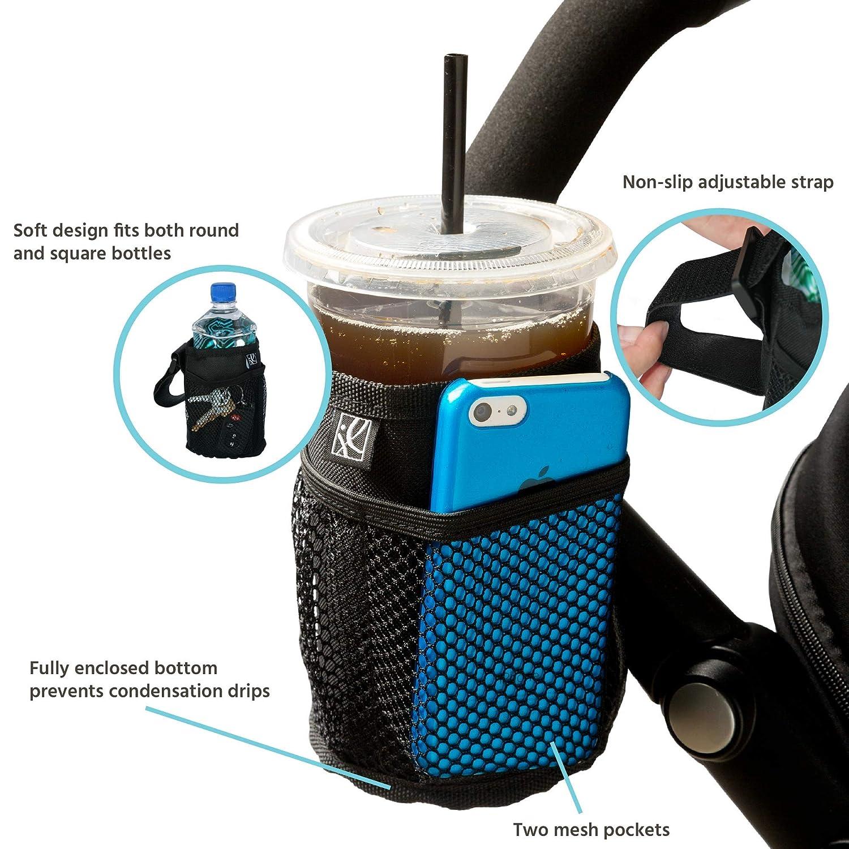Baby Stroller Cup Drink Pocket Insulated Waterproof Bag Keys Phone Holder Rack