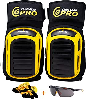 Professional Knee Pads by Extra Mighty Comfortable Heavy Duty Gel Foam Padding