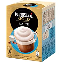 NESCAFE GOLD LATTE Instant Foaming Coffee Mix Sachet 19.5g(8 Sachets)