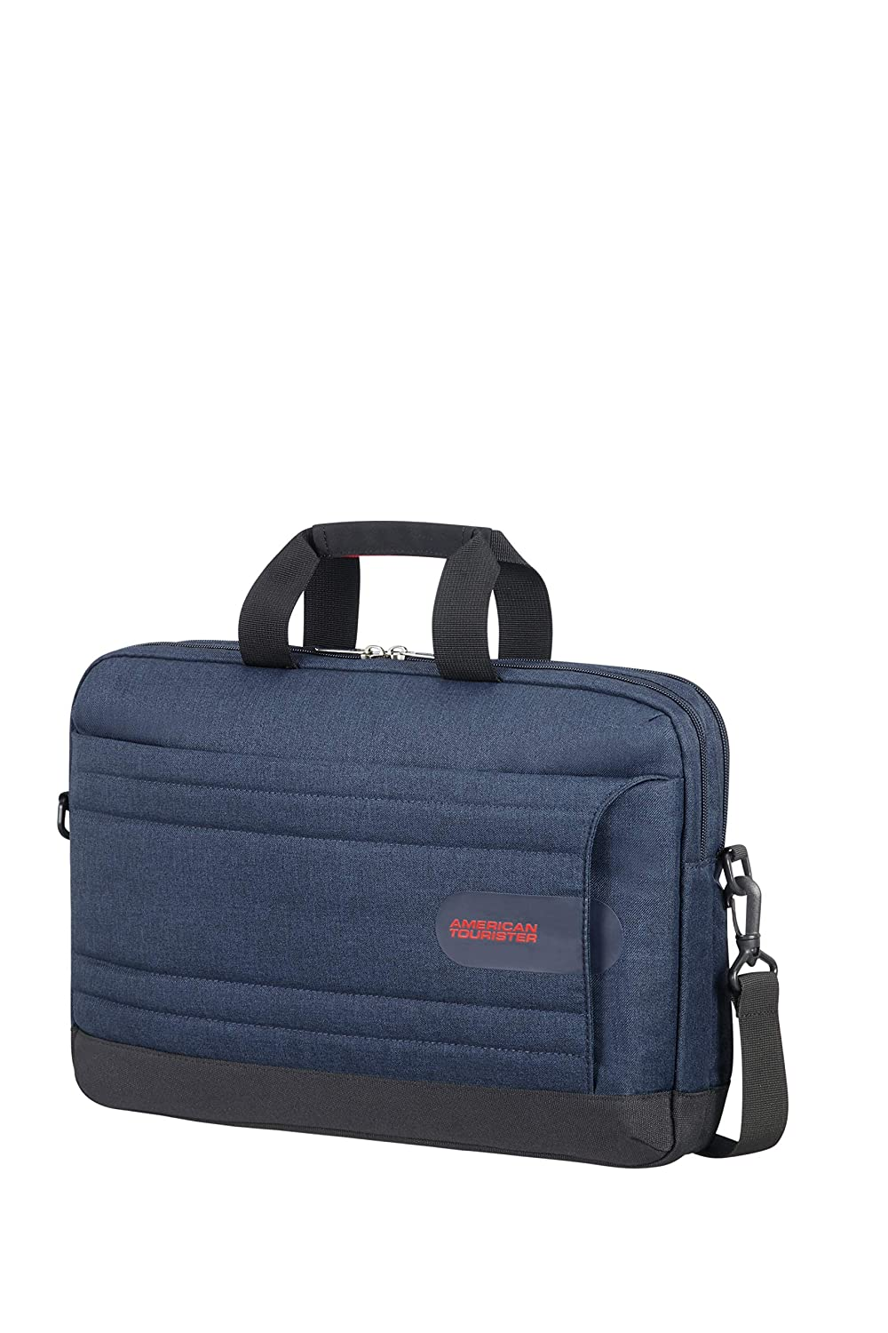 American Tourister Sonicsurfer - Laptop Briefcase 15.6 Mallette, 44 cm, 15 liters, Bleu (Midnight Navy) 103026/1552