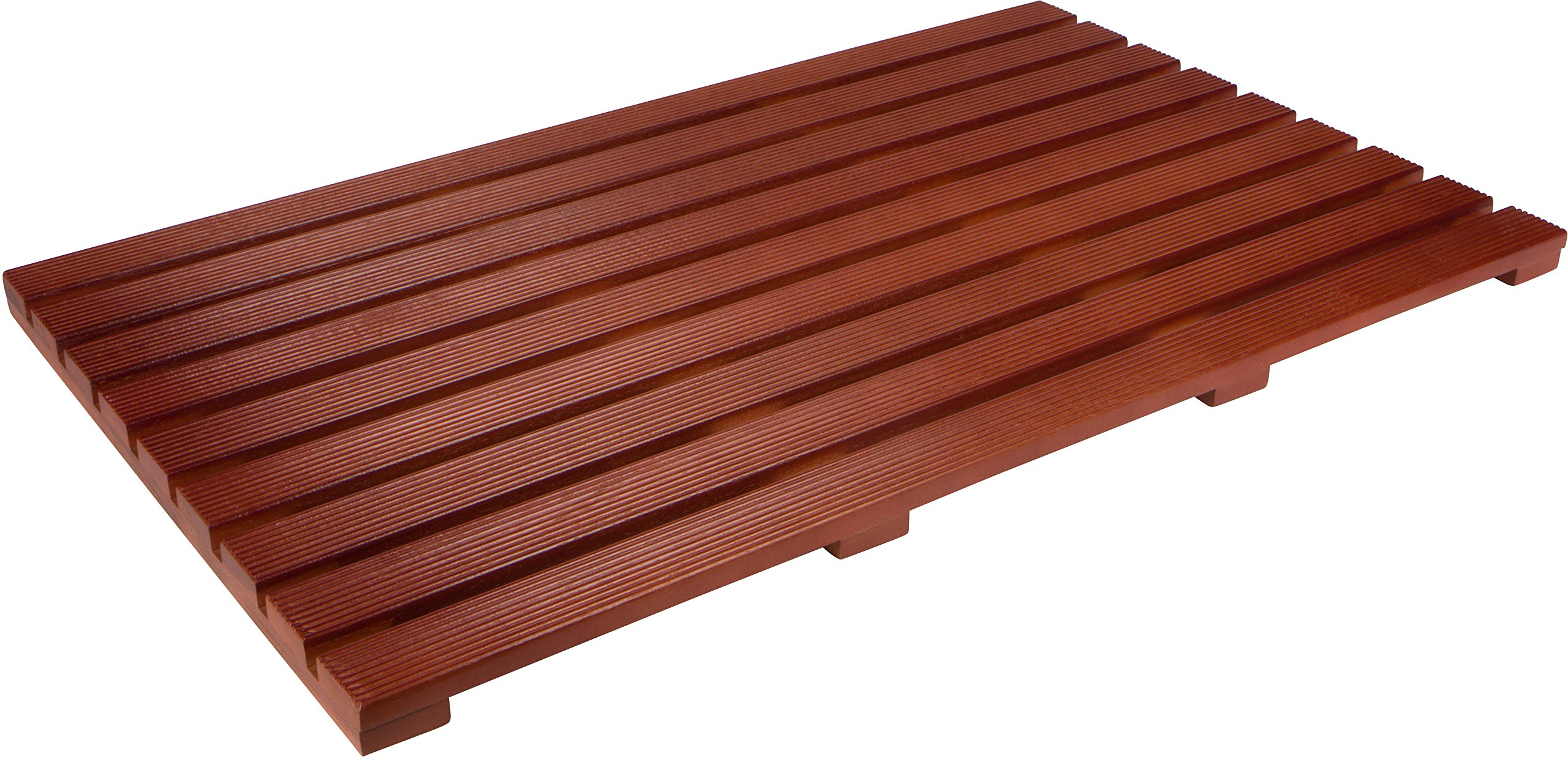 31.5'' Solid Teak Wood Non Slip Spa Shower or Door Mat by Trademark Innovations